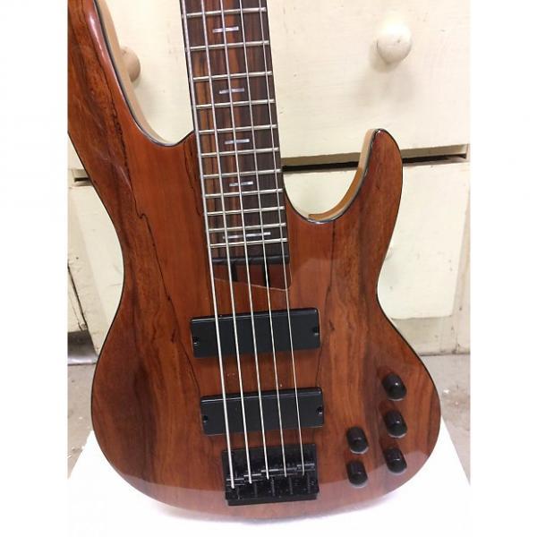 Custom Custom Built 5 String Bass Guitar 2016 Honey Brown #1 image