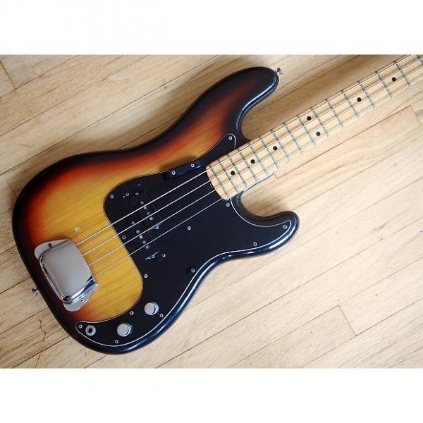 Custom 1976 Fender Precision Bass Vintage Electric Bass Guitar Maple Board Sunburst #1 image