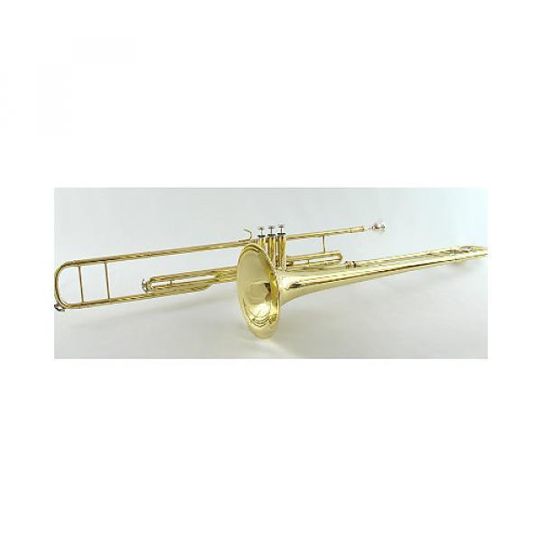 Custom Schiller American Heritage Piston Valve Bb Trombone Gold #1 image