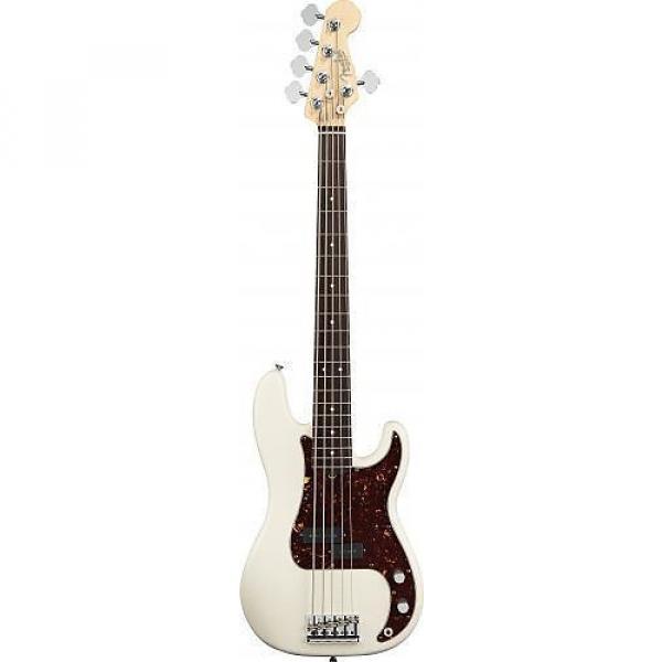 Custom Fender American Standard Precision Bass V (Five String) Rosewood Fingerboard Olympic White 193650705 #1 image