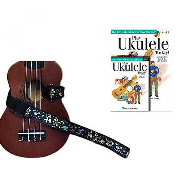 Custom Deluxe Ukulele Strap - Hawaiian Surfer Strap w/Bonus Play Ukulele Today Book CD DVD Pack #1 image
