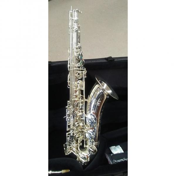 Custom L.A. Sax Big Lip Silver Tenor Sax with case and mouthpiece #1 image
