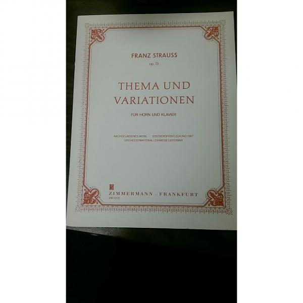 Custom Thematic Und Variationen French Horn  Franz Strauss #1 image