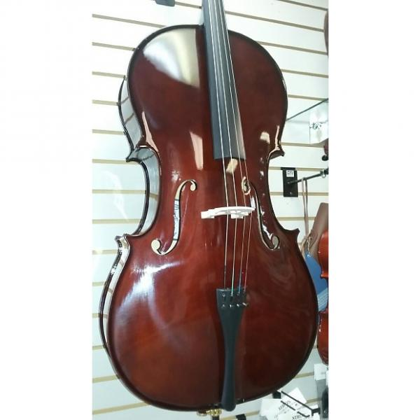 Custom Oxford Full Size Cello Outfit 2017 Natural Dark #1 image