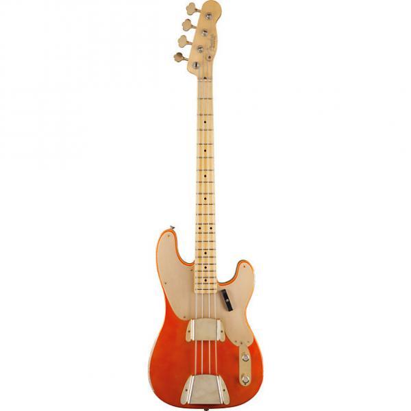 Custom Fender Custom Shop 1951 Relic Precision Bass Candy Tangerine 1502202882 #1 image