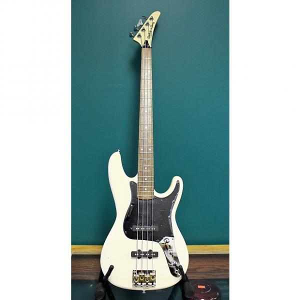Custom 1989 Epiphone by Gibson Rock Bass CH/WH White #1 image