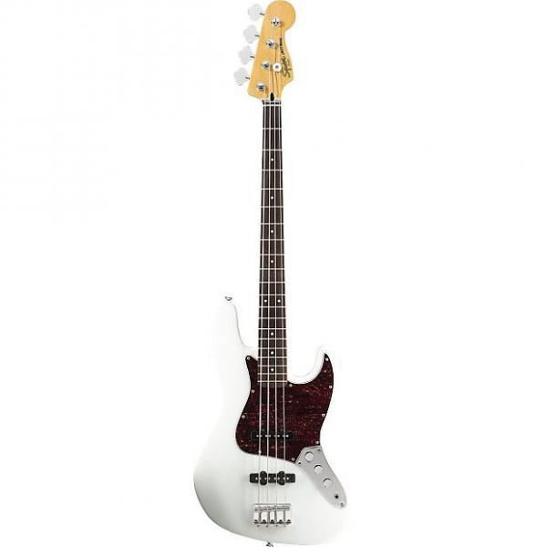 Custom Squier Vintage Modified Jazz Bass Guitar - Olympic White #1 image