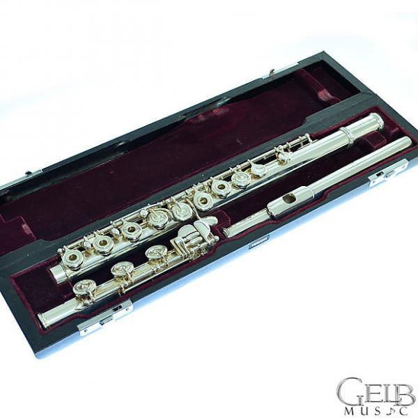 Custom Used Yamaha 600 Series Professional YFL-674 (EC) Solid Silver Open-hole Flute - Offset G - Split E - #1 image