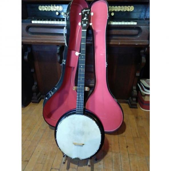 Custom Vintage 1950's (late) Harmony Reso-tone 5 String Resonator Banjo Calfskin Head + Original Hardcase #1 image