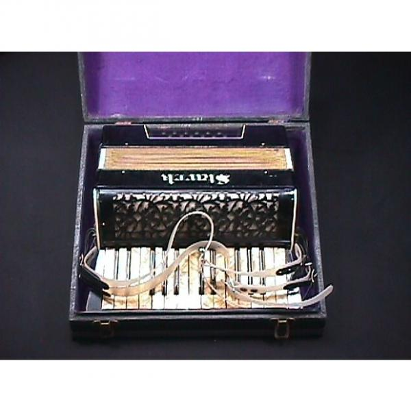 Custom Vintage German Made Stark Art Deco Style 12 Bass Accordion in  Original Case & Ready to Play as-is #1 image