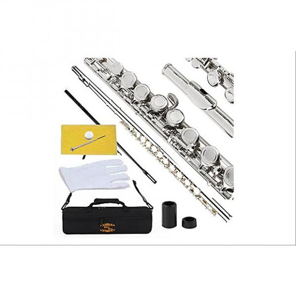 Custom Glory Closed Hole C Flute With Case, Tuning Rod and Cloth,Joint Grease and Gloves Nickel Siver--More #1 image