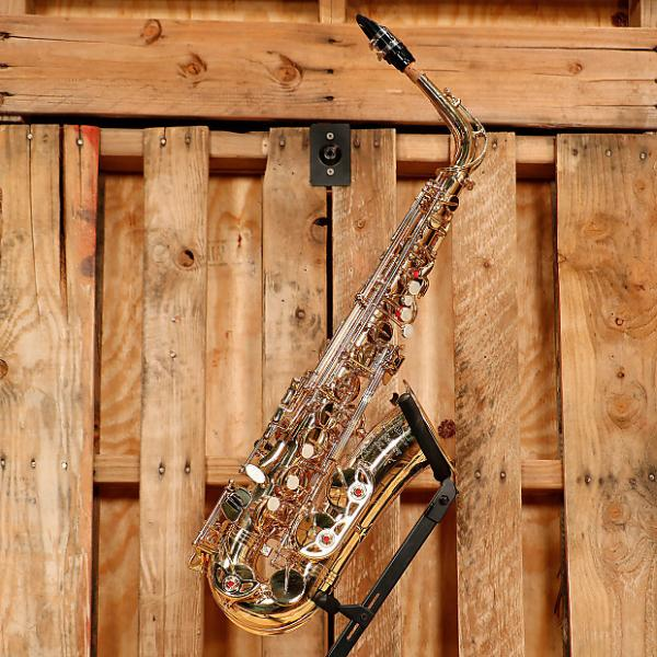 Custom Selmer Soloist Student Alto Saxophone Outfit *Rental Inventory Clearance* 2010's Brass Lacquer #1 image