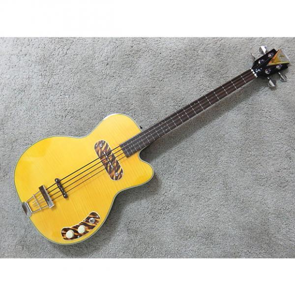 Custom Kay Vintage Reissue Bass K162V Pro Bass Blonde Front Sunburst Back Display Model Soft Case #1 image