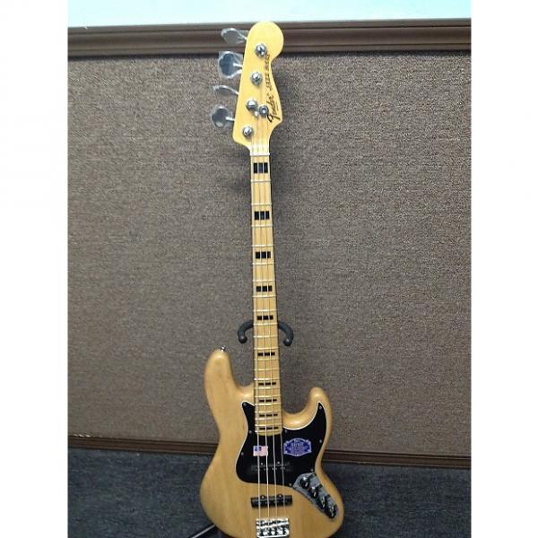 Custom Fender American Deluxe Jazz Bass 2015 Natural Ash Bass Guitar Sales Floor Model #1 image
