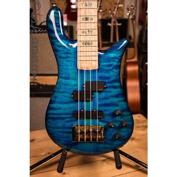 Custom NAMM Spector NS-2 Bahama Blue Gloss Bass Guitar #1 image