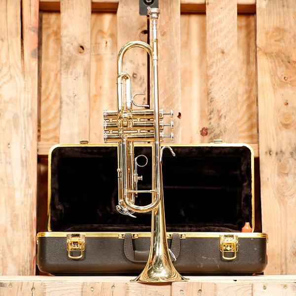 Custom Bach Soloist Student Trumpet Outfit *Rental Inventory Closeout* 2010's Brass Lacquer #1 image