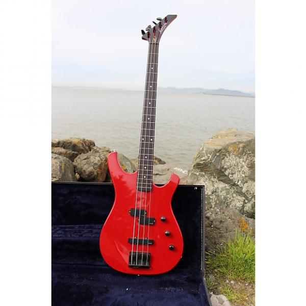 Custom Larrivée LB-2 Bass Guitar 1988 Ferrari Red #1 image