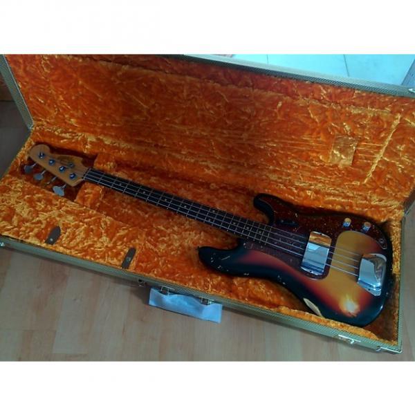 Custom Fender 64 L-Series Relic Custom Shop Precision Bass 2014 3-Color Sunburst #1 image