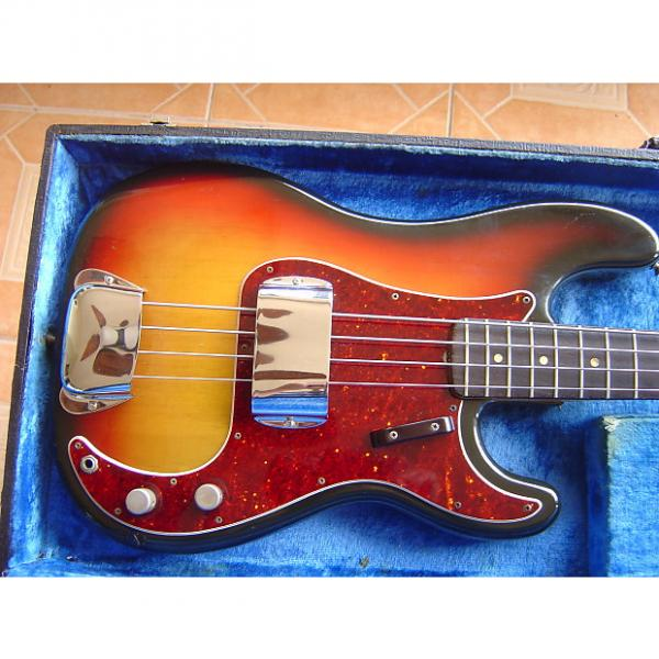Custom Fender 1969 Precision  Bass Guitar 3 Tone Sunburst- Free Shipping #1 image