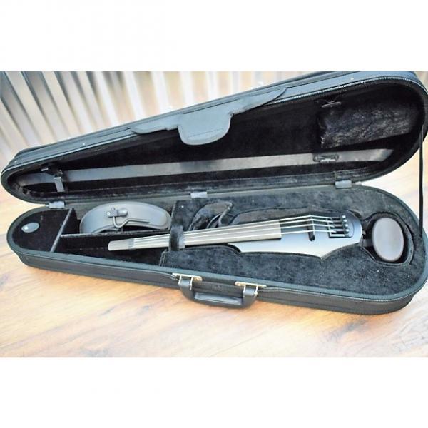 Custom NS Design NXT 4 String Electric Violin Satin Black Finish & Case #1000 #1 image