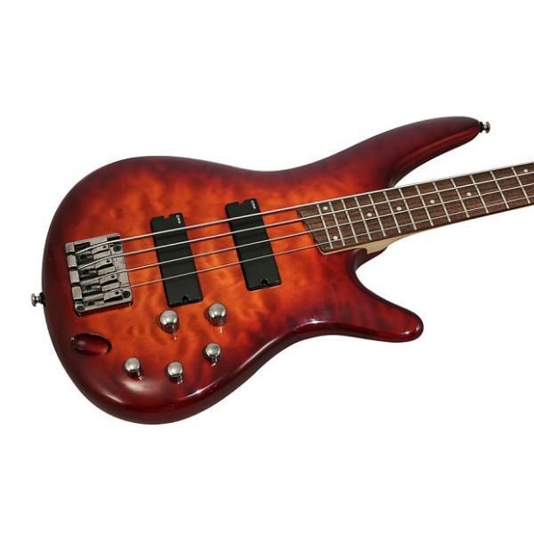 Custom Ibanez SR400QMCNB Electric Bass Charcoal Brown Burst #1 image