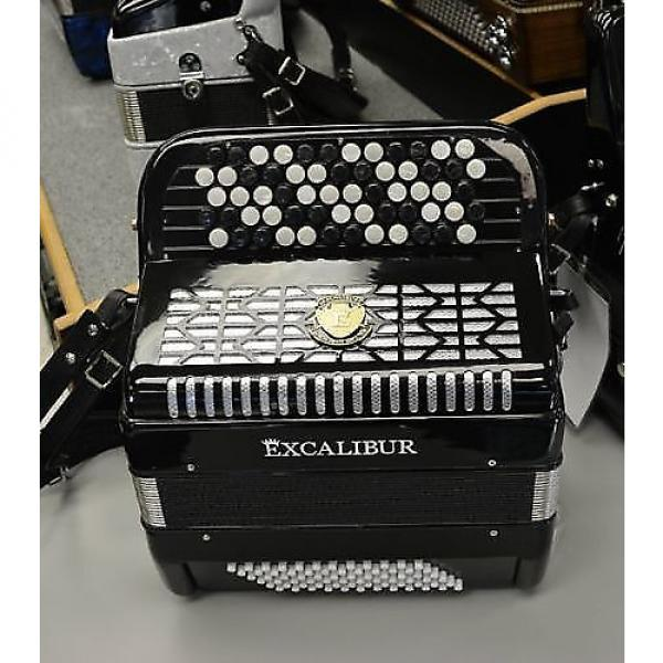 Custom Excalibur Leipzig 72 Bass Chromatic Button Accordion B or C System 2016 Black #1 image