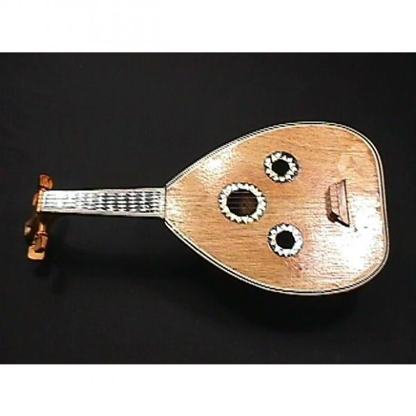 Custom Vintage Oriental  4 String Pipa Loaded with Mother of Pearl  Inlaids &  Great Ready to Play #1 image
