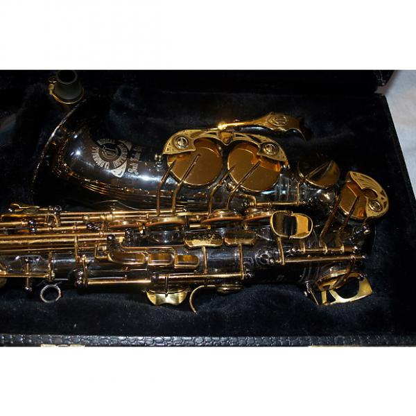 Custom Cannonball Eb Intermediate Alto Saxophone Black nickel w/ gold lacquered keys #1 image