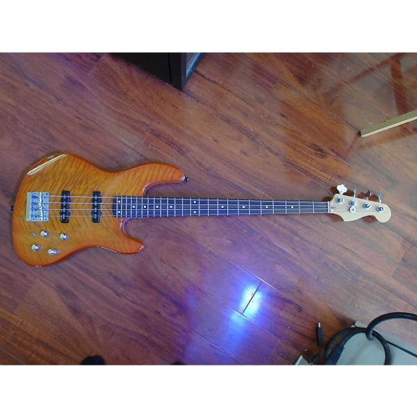 Custom Fender Deluxe Jazz Bass 24 Fret 2000s Cherry Sunburst #1 image
