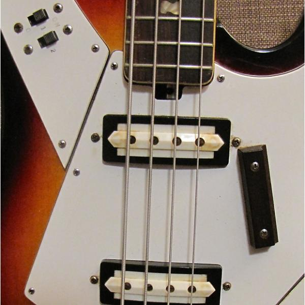 Custom Norma by Teisco Gen Gakki Bass Guitar Vintage 1968 Sunburst #1 image