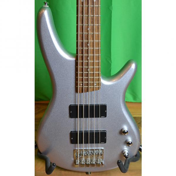 Custom Ibanez RG Bass Silver 5-String #1 image