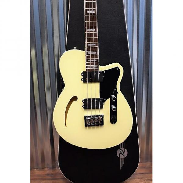 Custom Reverend Guitars Dub King 4 Sting Semi Hollow Bass Guitar Cream & Case DEMO #1 image