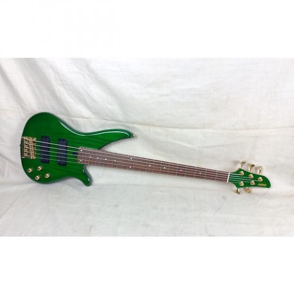 Custom Used Yamaha RBX765A Electric Bass Guitar 5 String Transparent Green #1 image