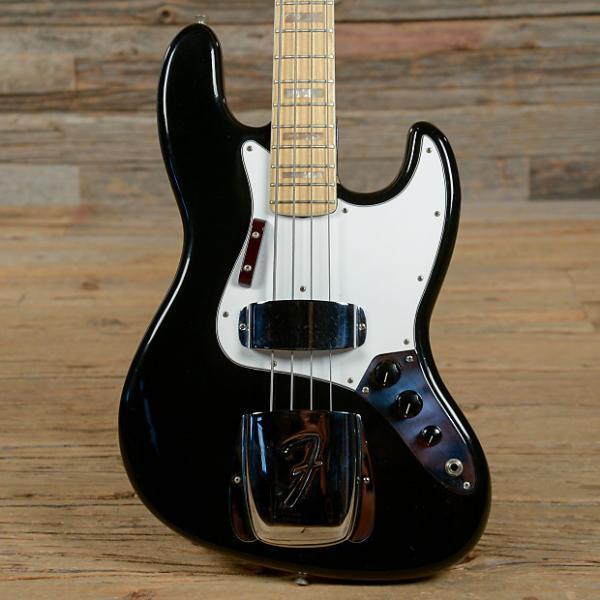 Custom Fender Jazz Bass Black 1975 (s545) #1 image