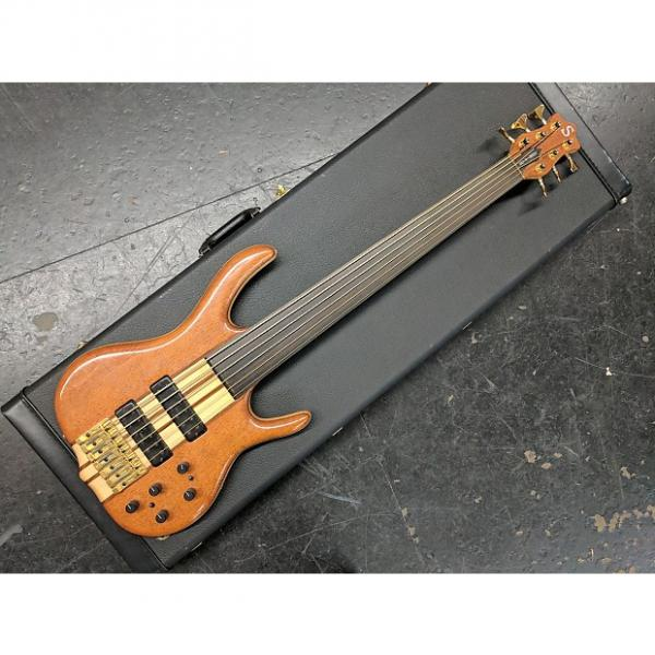 Custom Ken Smith BSR6EG 1998 Natural Gloss BSR 6-String Unlined Fretless Elite G Lacewood #1 image