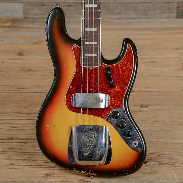 Custom Fender Jazz Bass RW Sunburst 1968 (s108) #1 image