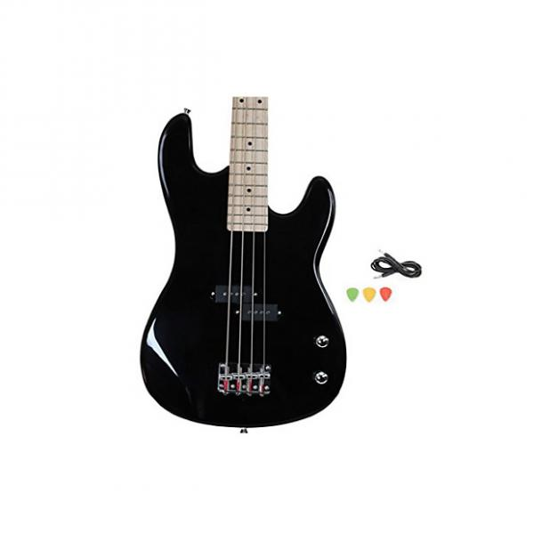 Custom Black Full Size Electric Bass Guitar With Cord And Picks By Davison #1 image