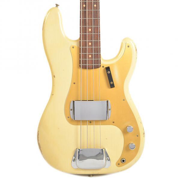 Custom Fender Custom Shop 1959 Precision Bass Relic RW Aged Vintage Blonde (Serial #R88115) #1 image