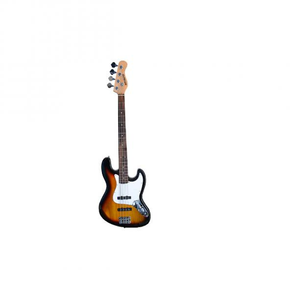 """Custom Full Size 4 String 46"""" Jazz J Electric Bass Guitar and Amplifier Pack with Free Gig Bag and Accessor #1 image"""