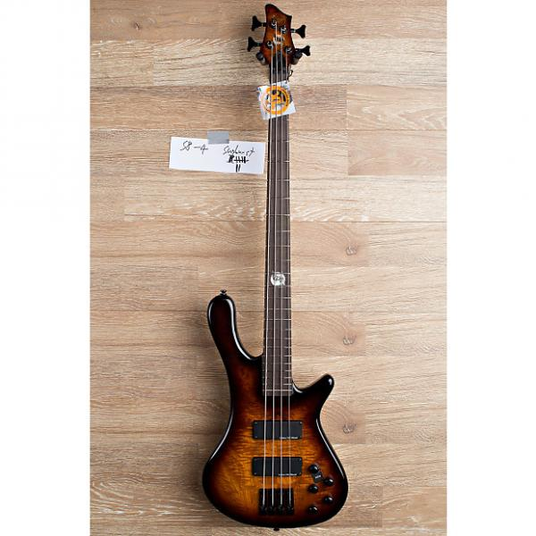 Custom 2017 Wolf S8 4 String Active Passive Jazz Bass Sunburst [7 out of 8] #1 image