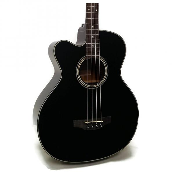 Custom Takamine GB30CELH-BLK G Series Jumbo Cutaway Left-Handed Acoustic-Electric Bass #1 image