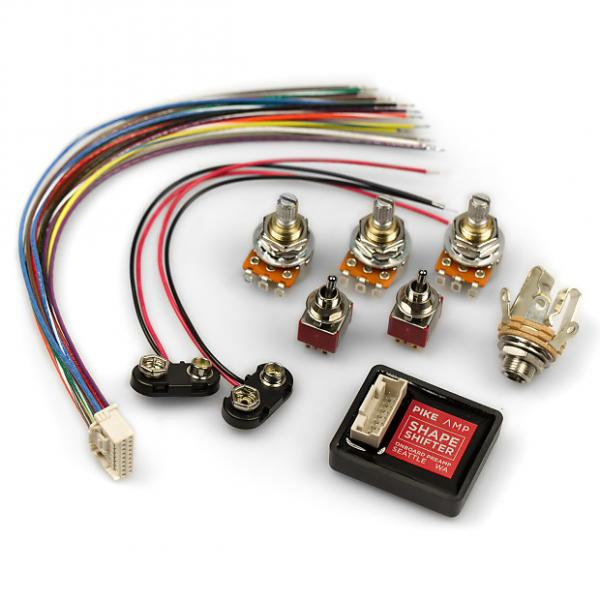 Custom Shapeshifter Onboard Bass Preamp - Complete Kit - RED #1 image