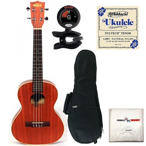 Custom Kala KA-TE Electric Tenor Ukulele Bundle Pack + Gig Bag + Tuner + Strings +Cloth #1 image