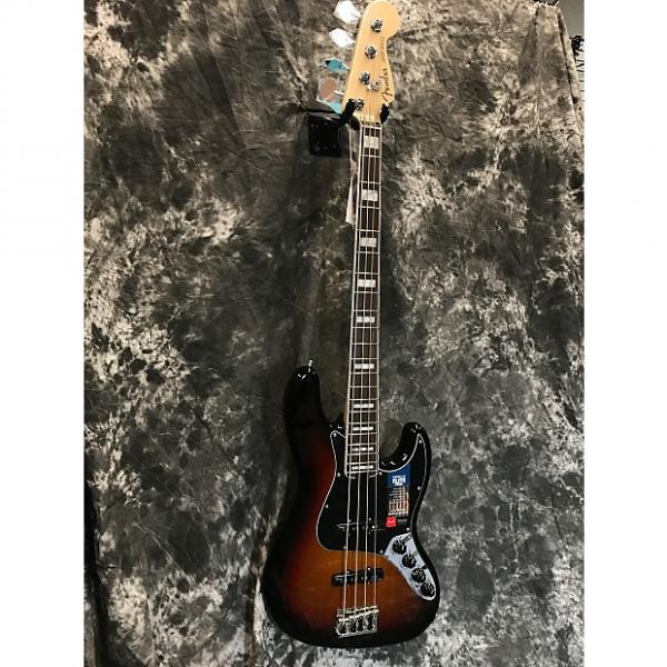 Custom Brand New Fender American Elite Jazz Bass 2016 3 Tone Sunburst w/Hardcase #1 image