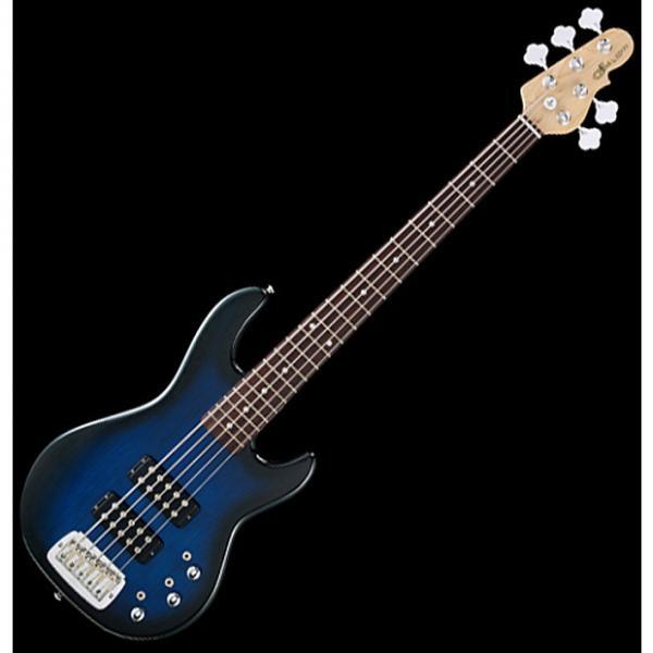 Custom G&L Tribute L-2500 5 Strings Bass in Blueburst Rosewood #1 image