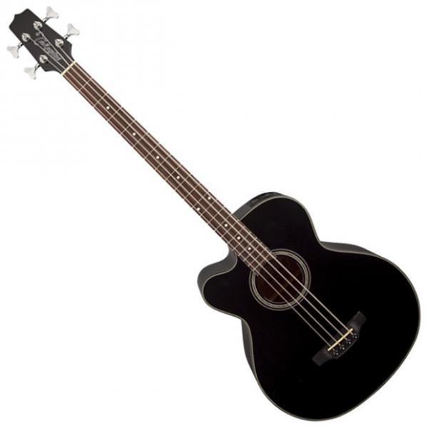 Custom Takamine GB30CELH-BLK G-Series Left Handed Acoustic Electric Bass in Black Finish #1 image