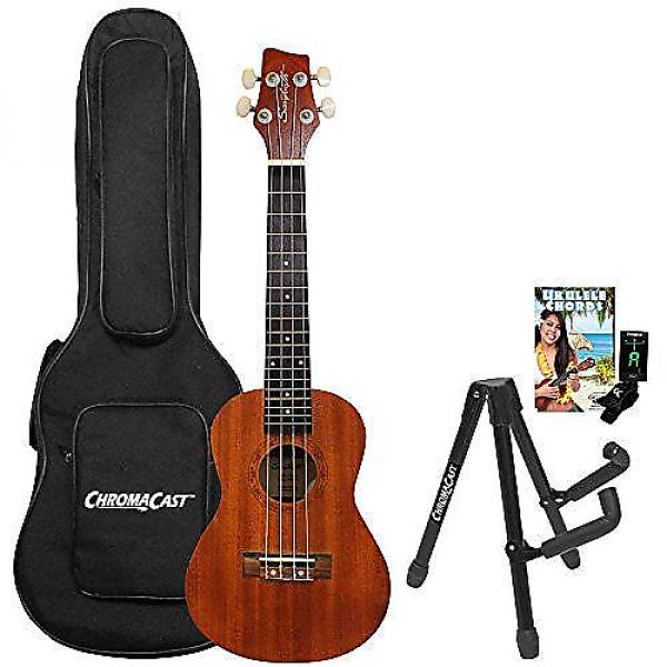Custom Sawtooth Mahogany Concert Ukulele with Preamp, Quick Start Guide, Stand, Bag and Tuner #1 image