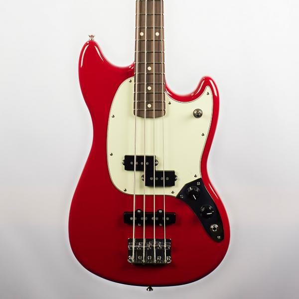 Custom Fender Offset Series Mustang Bass PJ in Torino Red #1 image