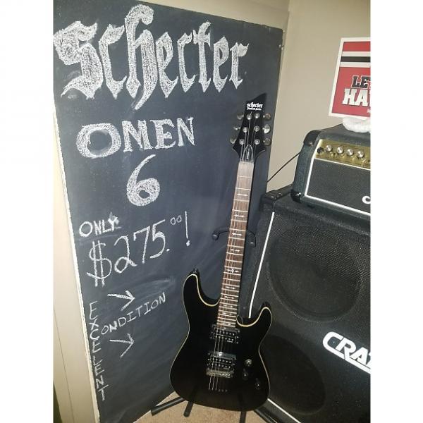 Custom SCHECTER  OMEN -6   Gloss Black #1 image