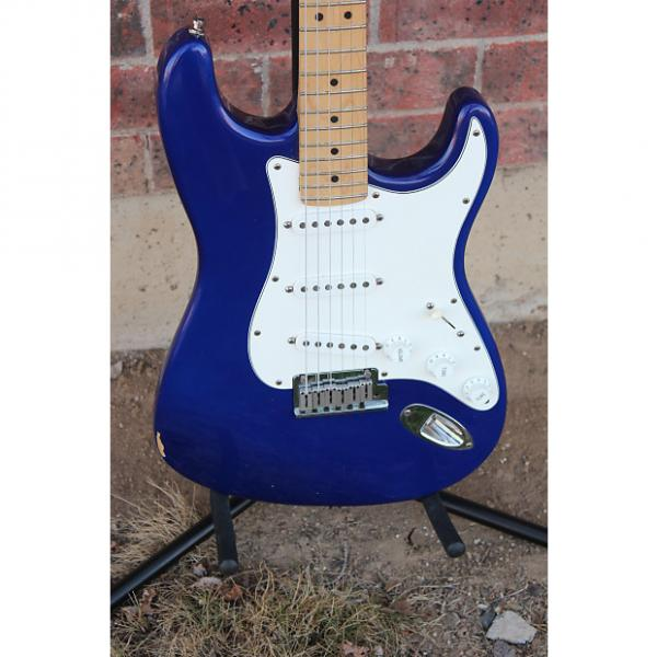 Custom 1991 Fender USA Stratocaster Standard Midnight Blue Purple Electric Guitar American Strat #1 image